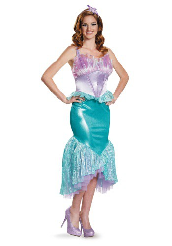 Click Here to buy Deluxe Womens Ariel Costume from HalloweenCostumes, CDN Funds