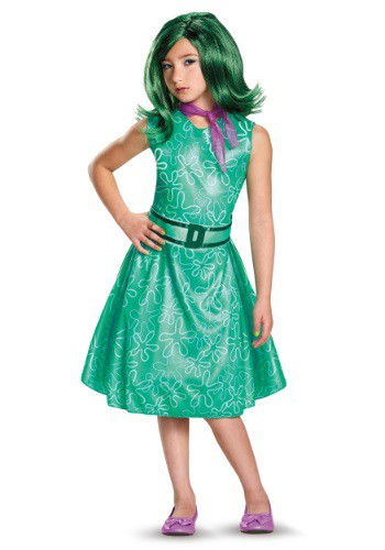 Inside Out Classic Disgust Costume for Kids DI86940