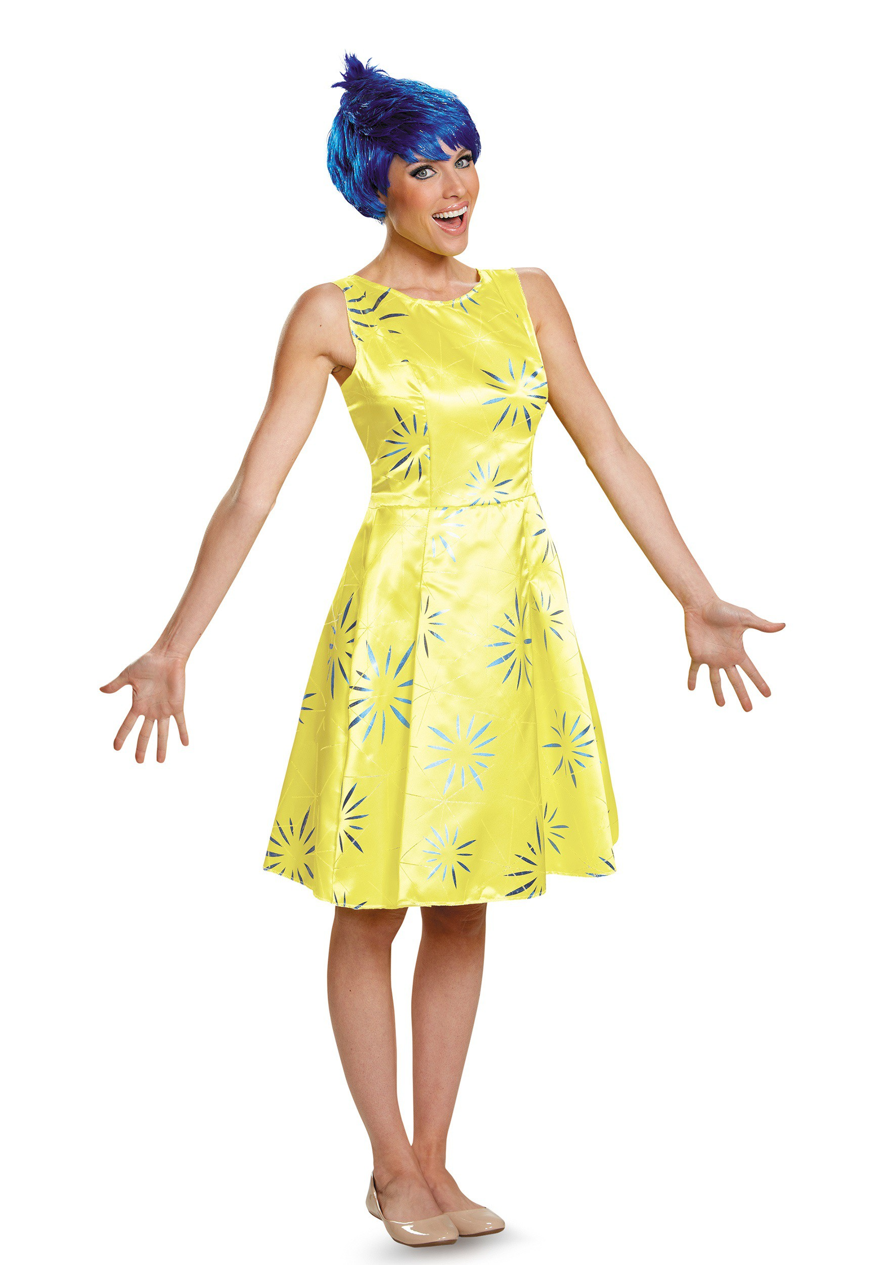 Deluxe Adult Inside Out Joy Costume DI86954