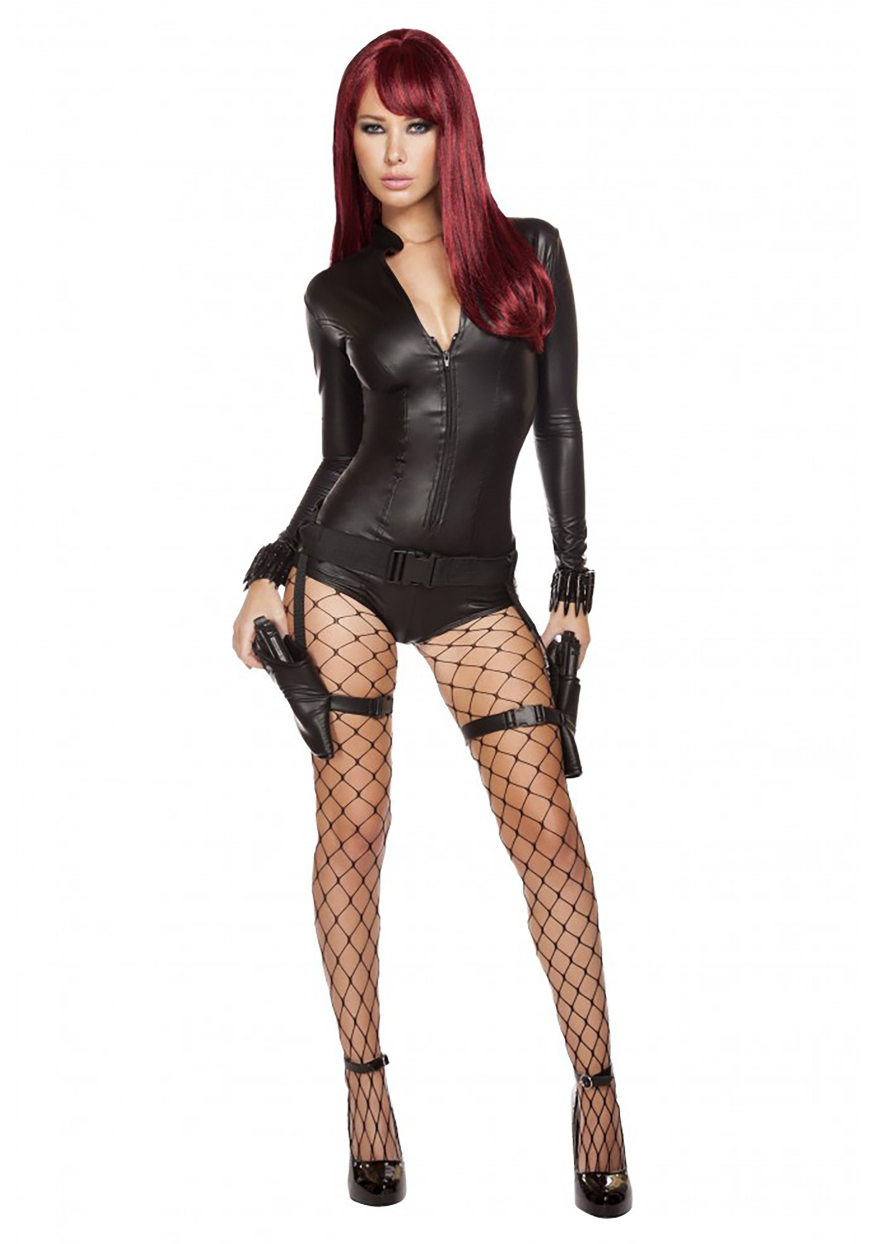 womens hot hitwoman romper costume