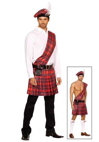 Click Here to buy Mens Scottish Kilt Costume from HalloweenCostumes, USA Funds & Shipping