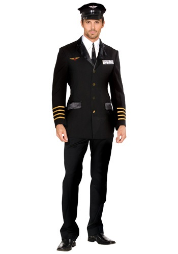 Image of Men's Mile High Pilot Costume
