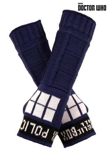 TARDIS Armwarmers By: Elope for the 2015 Costume season.