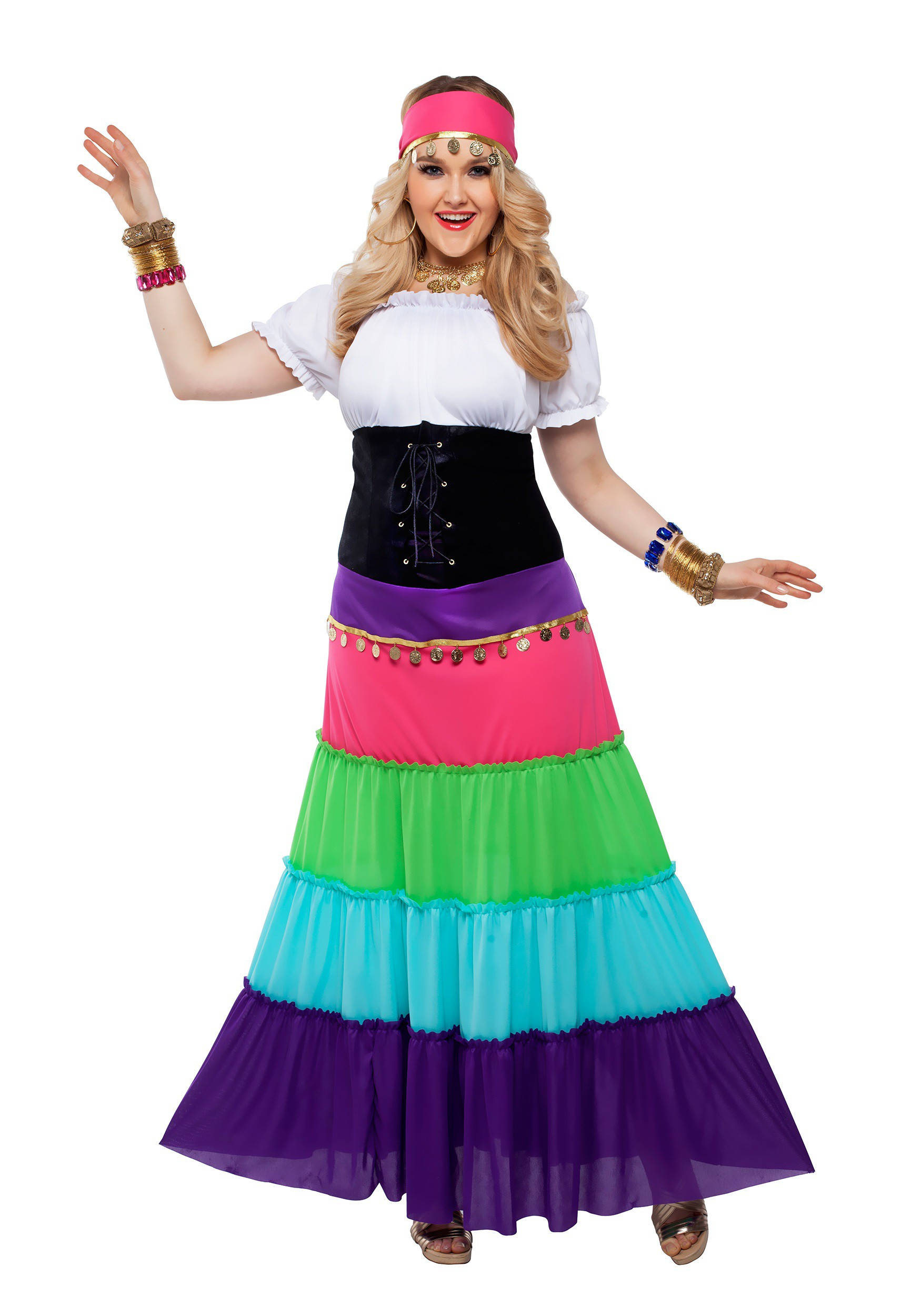 Womens Plus Size Renaissance Gypsy Costume  sc 1 st  Halloween Costumes & Womens Plus Size Renaissance Gypsy Costume 2X