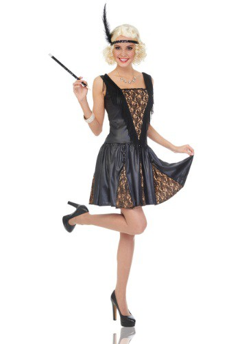 Show off your gorgeous gams in this 1920s Women's Peek-a-Boo Flapper costume. #%20