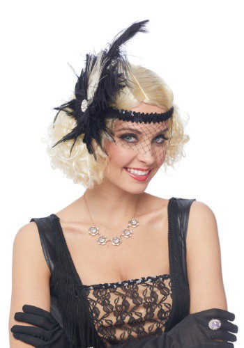Flapper Headpiece w/ Birdcage Veil