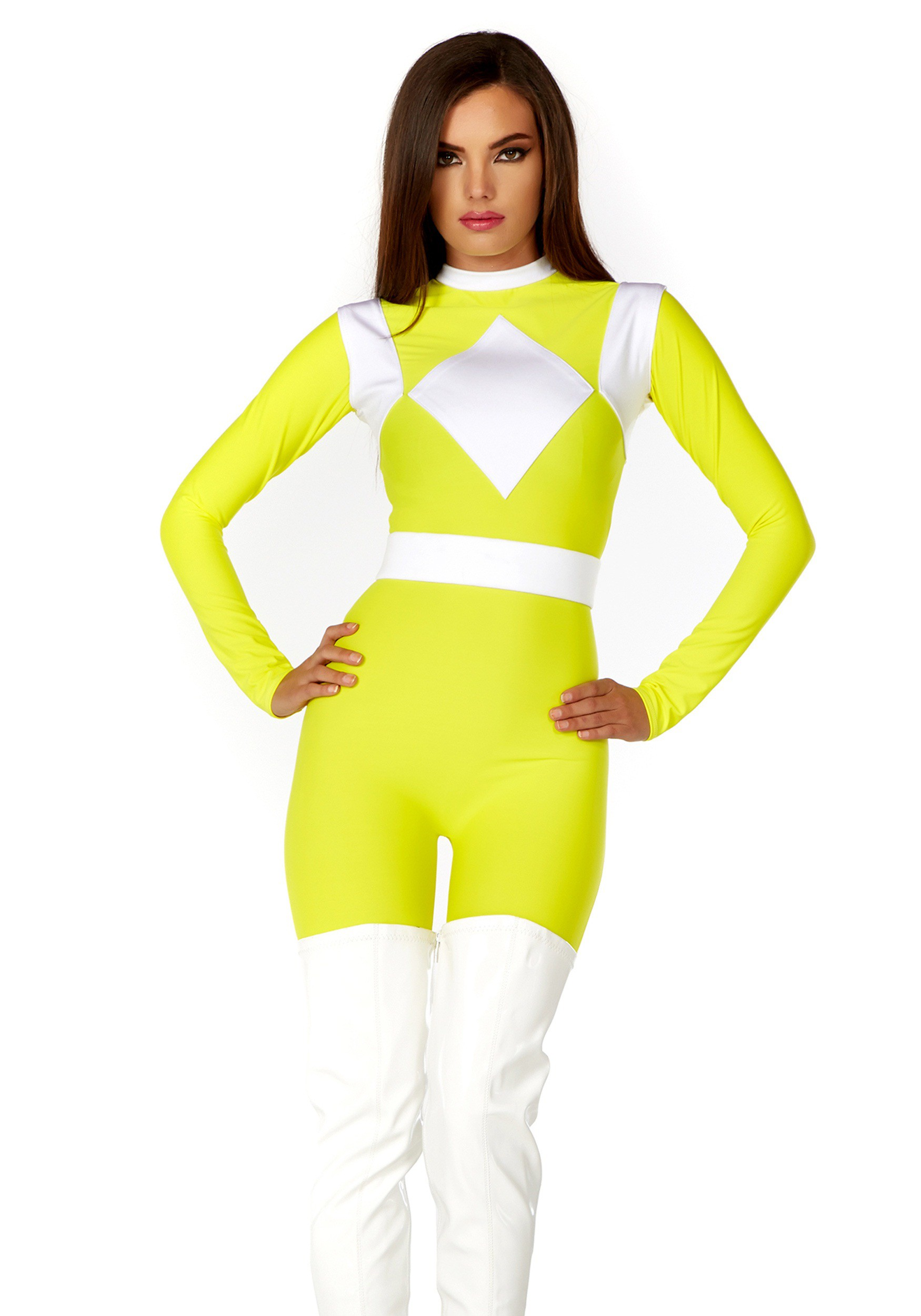 Women Dominance Action Figure Yellow Catsuit