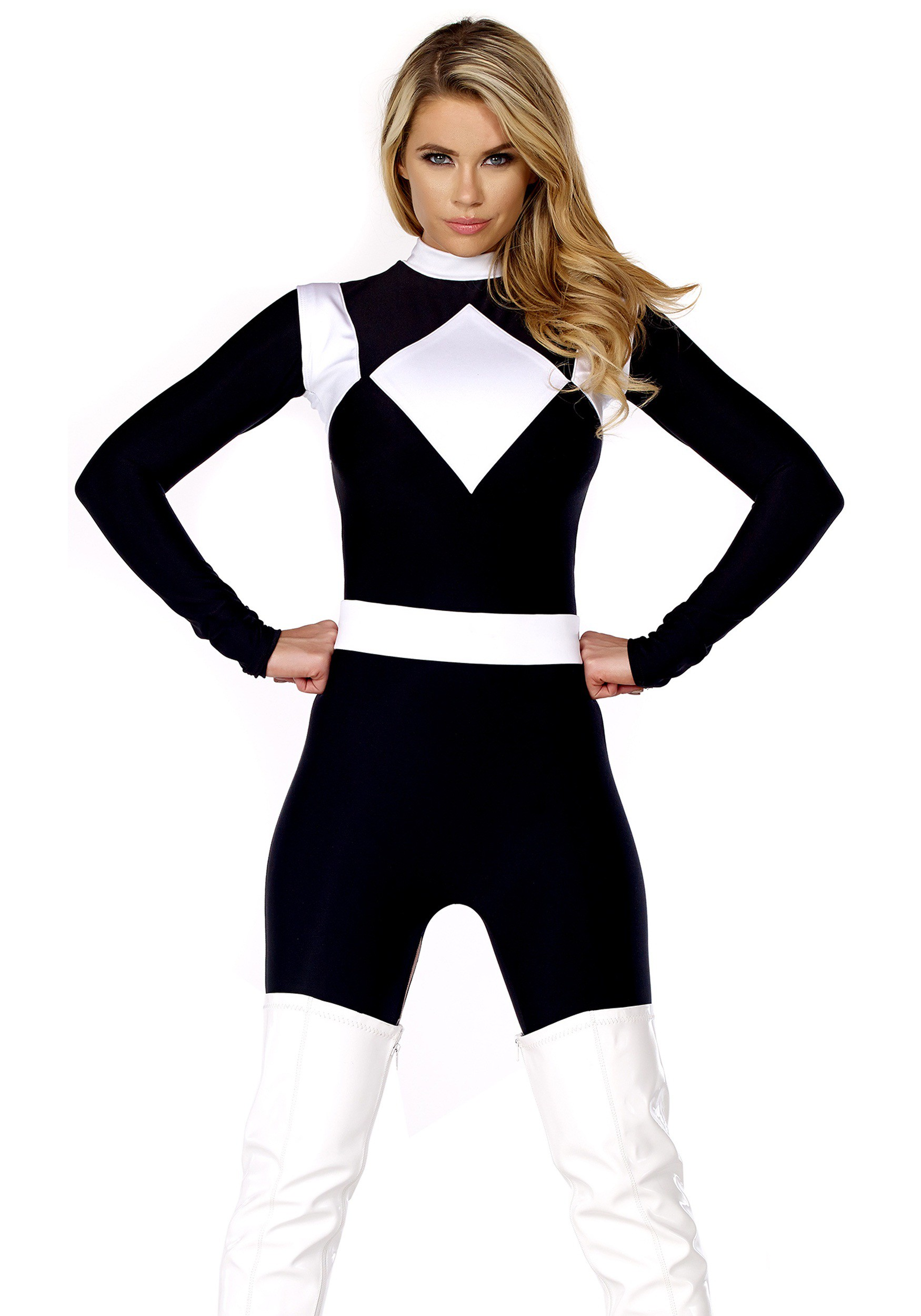 Womenu0027s Vigorous Black Ranger Costume  sc 1 st  Halloween Costumes & Womenu0027s Dominance Action Figure Black Catsuit
