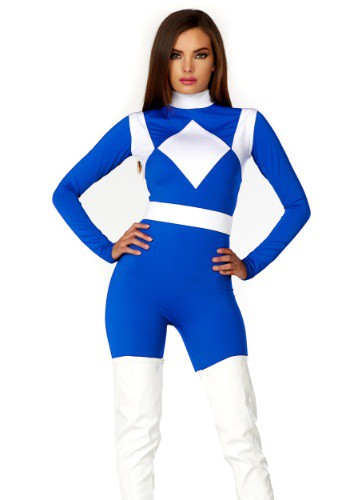 Image of Women's Dominance Action Figure Blue Catsuit
