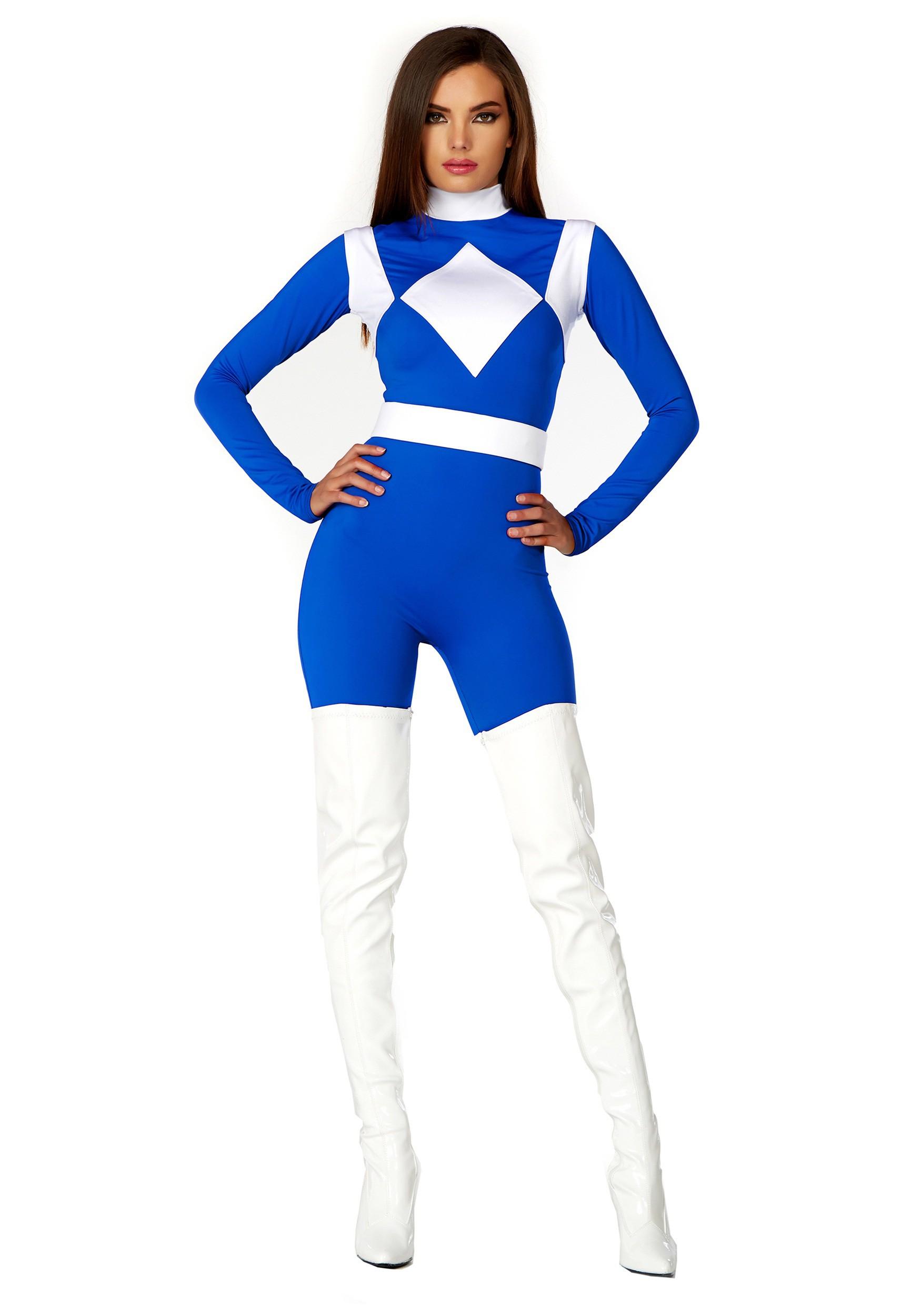 Women S Dominance Action Figure Blue Catsuit Costume