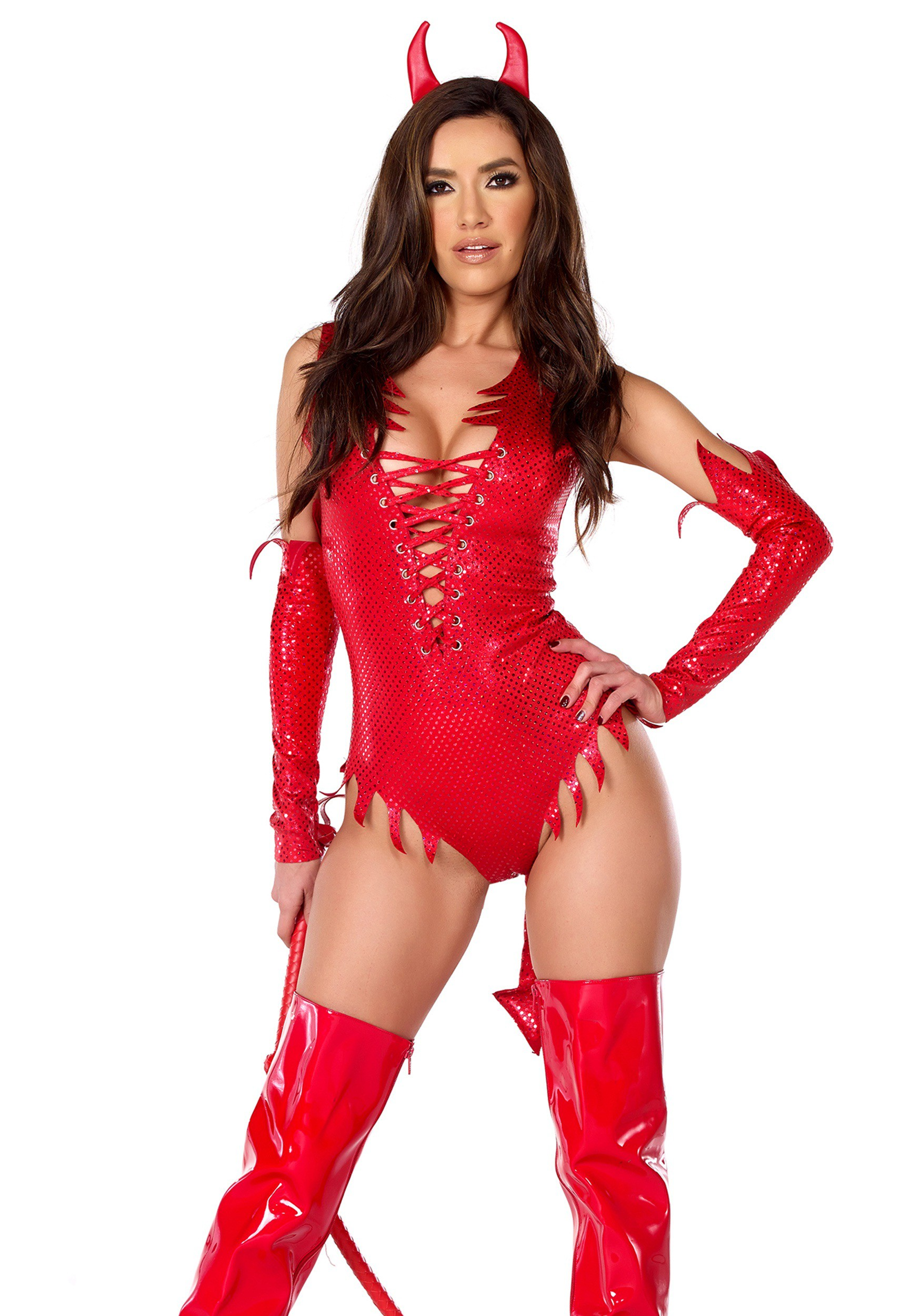 Womens Sizzle N Shine Devil Costume-7081