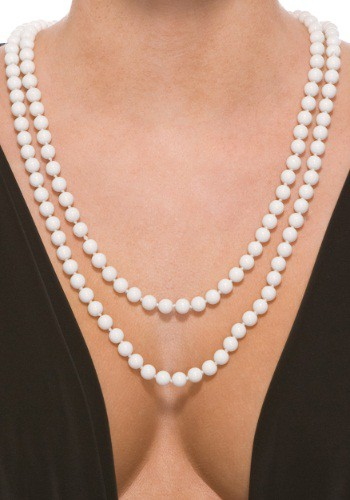 White Deluxe Faux Pearl Necklace