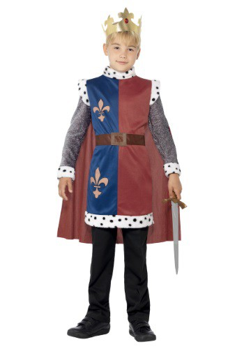 Click Here to buy Kids Medieval King Arthur Tunic from HalloweenCostumes, USA Funds & Shipping