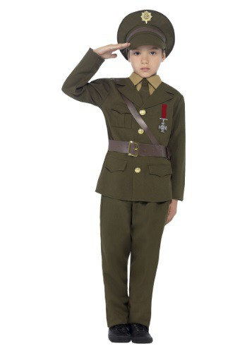 Click Here to buy Kidss Army Officer Costume from HalloweenCostumes, USA Funds & Shipping