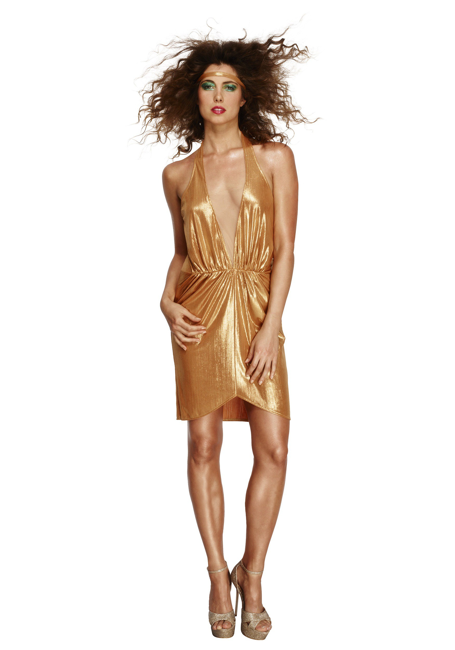 Women S Gold 70s Disco Diva Costume