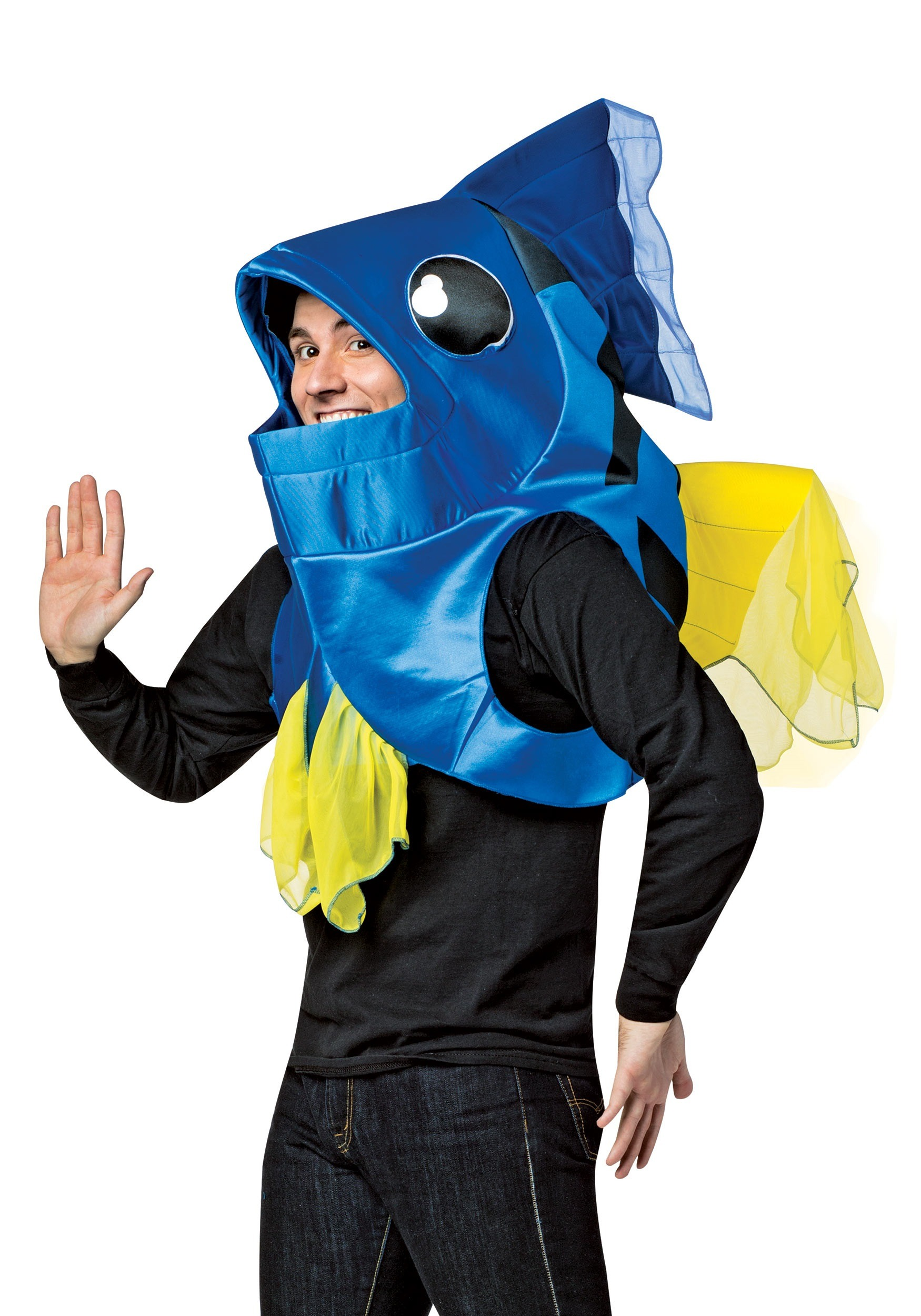 Blue fish costume for adults for Fish costume for adults