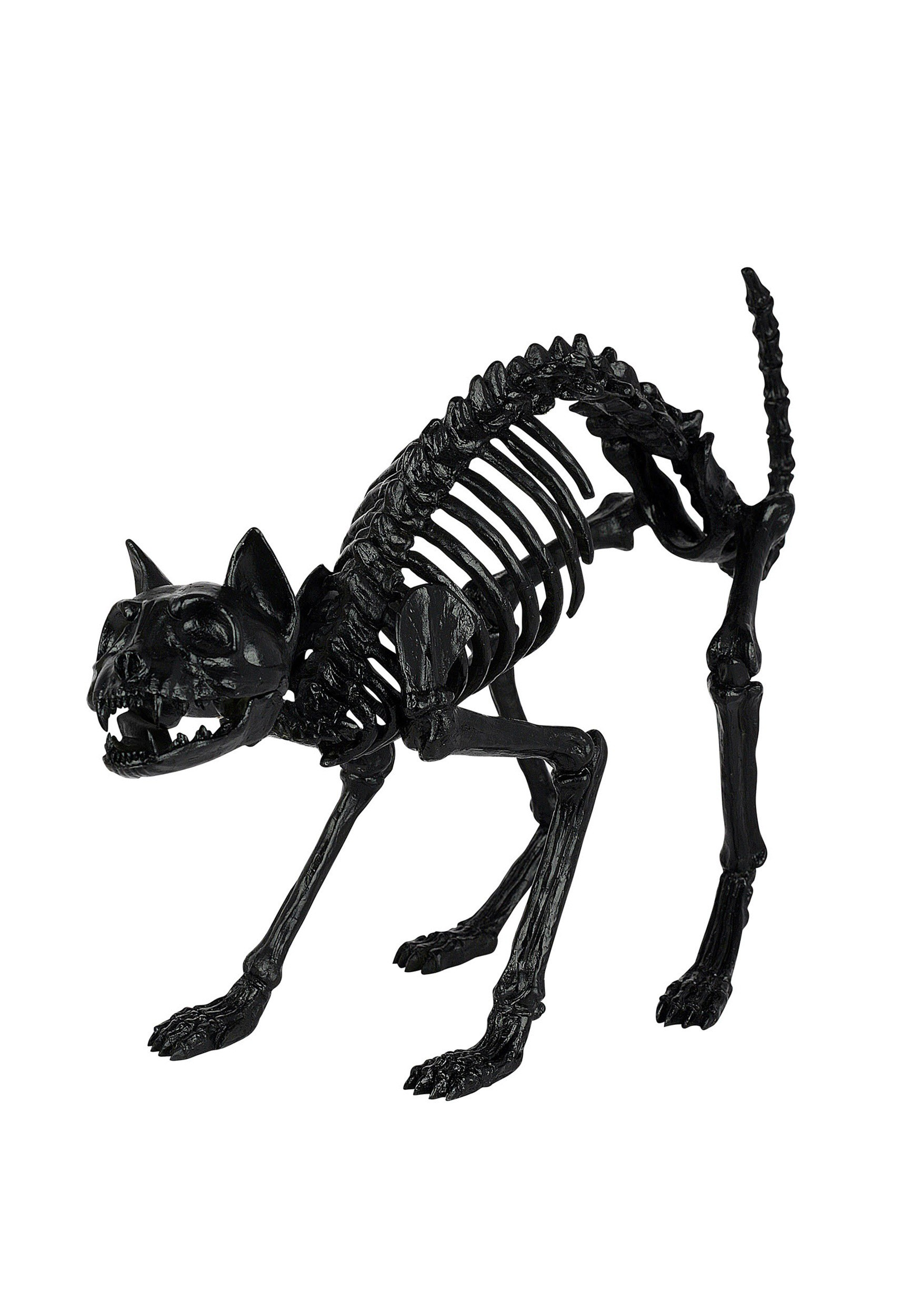 black skeleton cat prop - Halloween Cat Decorations