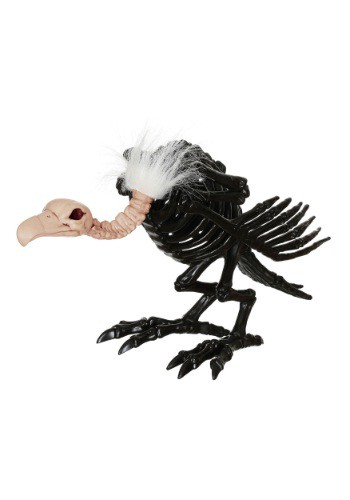 "Image of 14"" Black Skeleton Vulture"