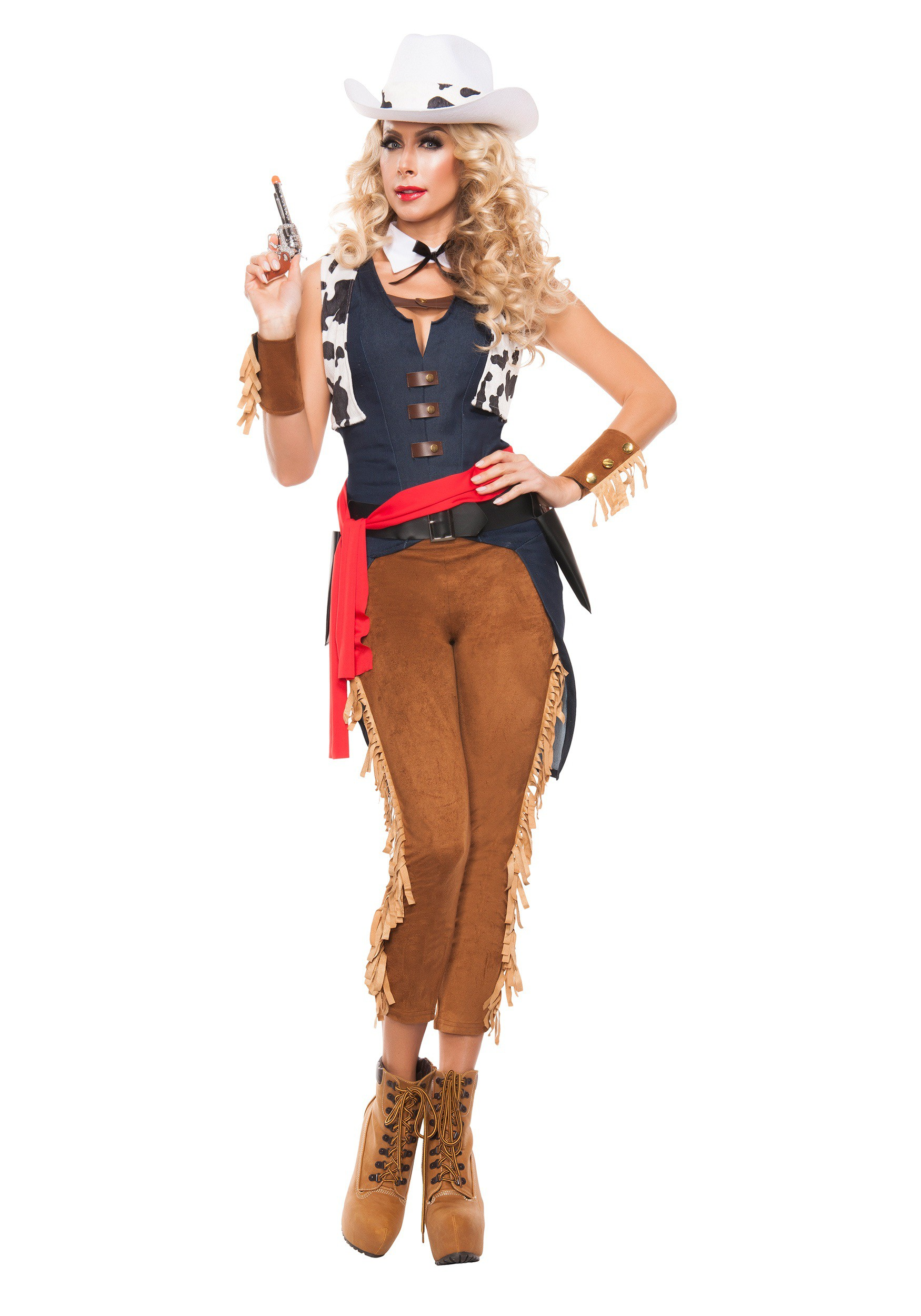 sc 1 st  Halloween Costumes & Womenu0027s Wild Wild West Cowgirl Costume