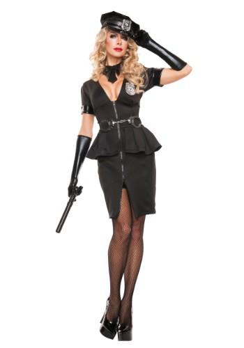 Image of Women's Elegant Cop Costume