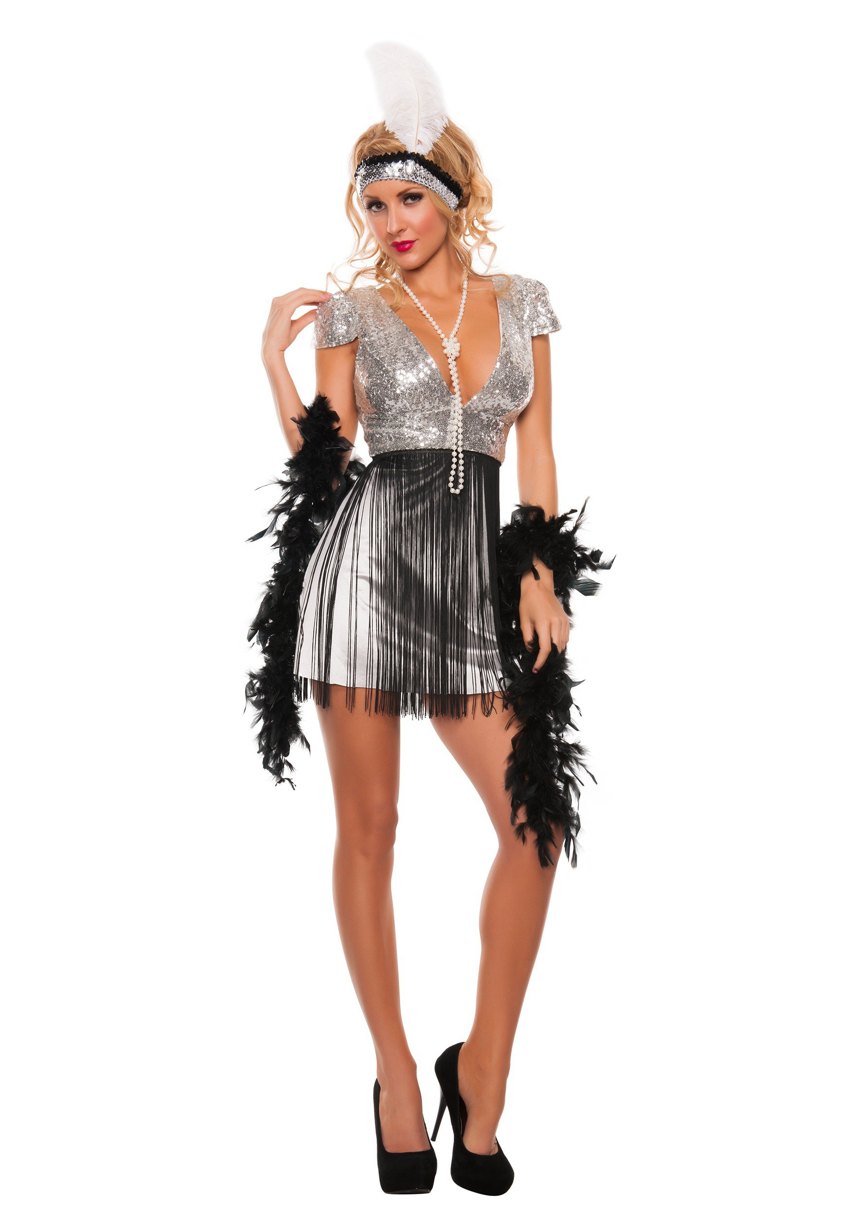 womens jazzy flapper costume