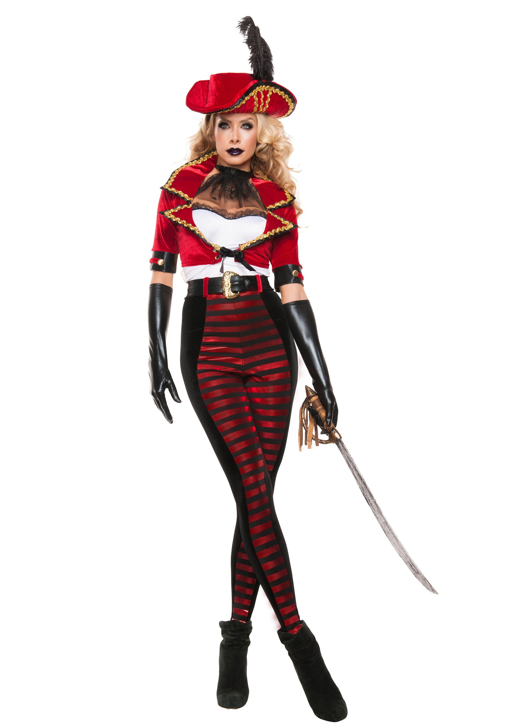 Womenu0027s Midnight Pirate Costume  sc 1 st  Halloween Costumes & Pirate Costumes for Adults