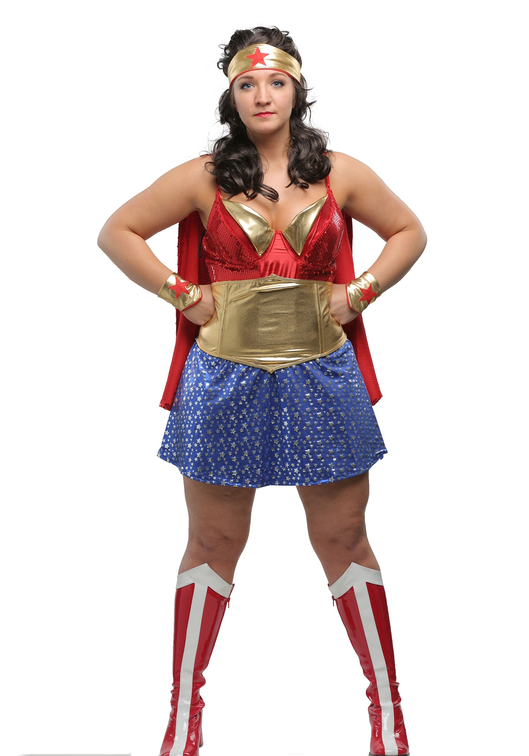 Womens Plus Size Wonder Lady Costume  sc 1 st  Halloween Costumes & Wonder Woman Costumes for Girls u0026 Woman - Superhero Costumes