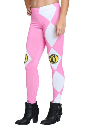 Womens Power Rangers Pink Ranger Leggings