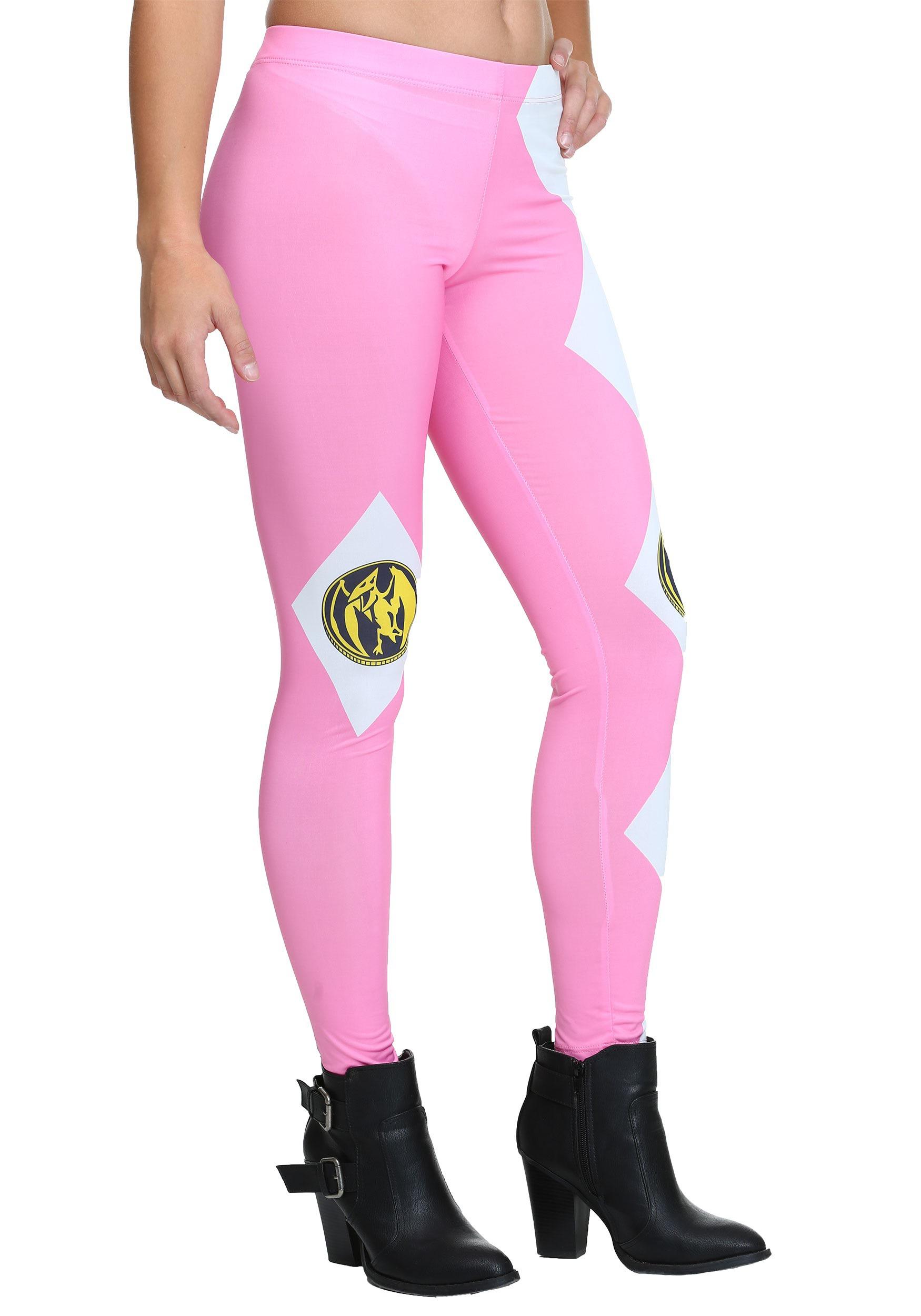 Womens Power Rangers Pink Ranger Leggings