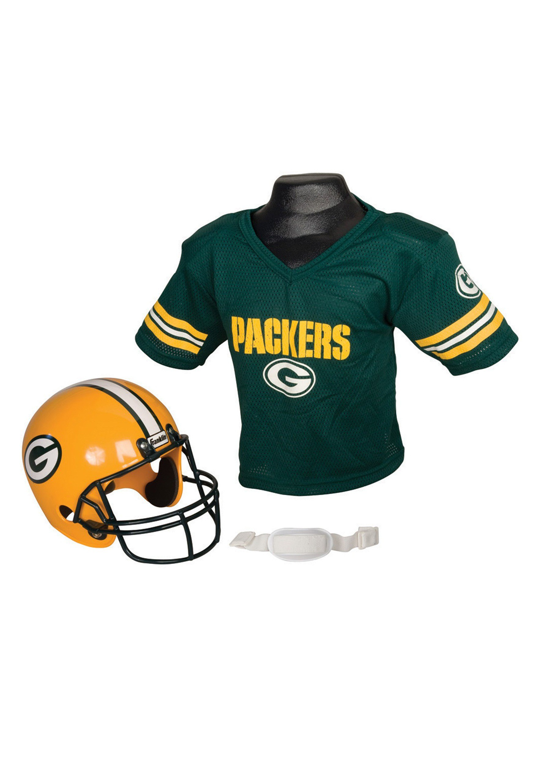 49935aa15 Child NFL Green Bay Packers Helmet and Jersey Costume Set