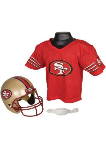 Image of Child NFL San Francisco 49ers Helmet and Jersey Set
