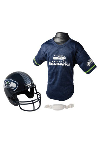 Child NFL Seattle Seahawks Helmet and Jersey Set