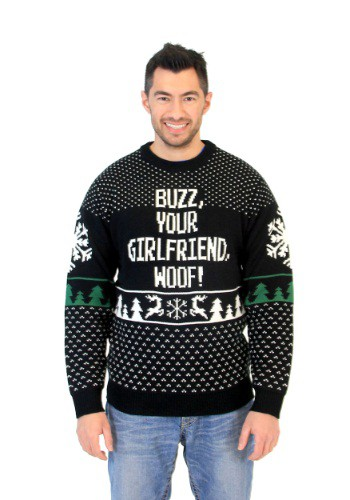 Image of Home Alone Buzz Your Girlfriend Woof Ugly Christmas Sweater