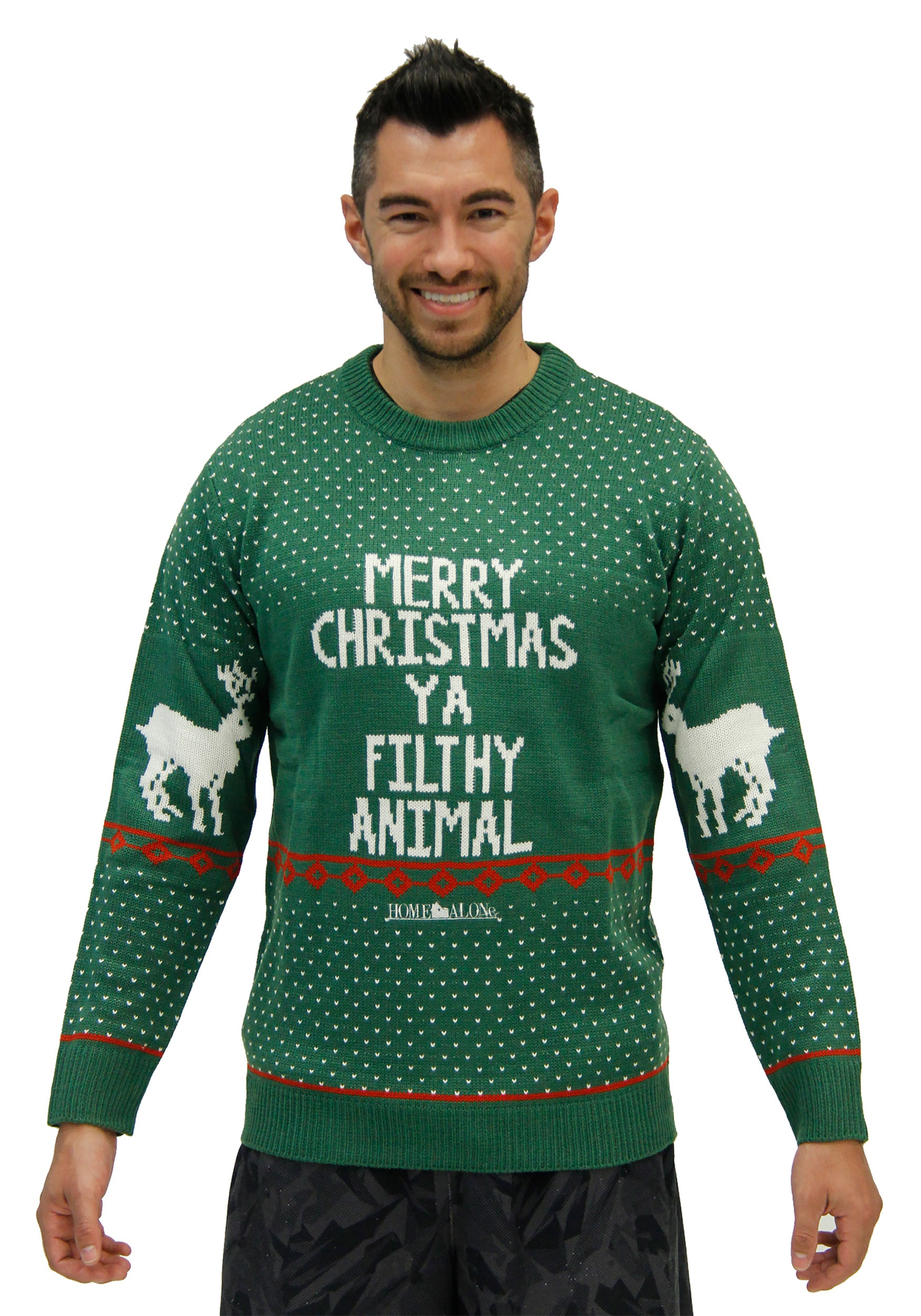 2a8a495a5b08 Home Alone Green Ya Filthy Animal Plus Size Ugly Xmas Sweater