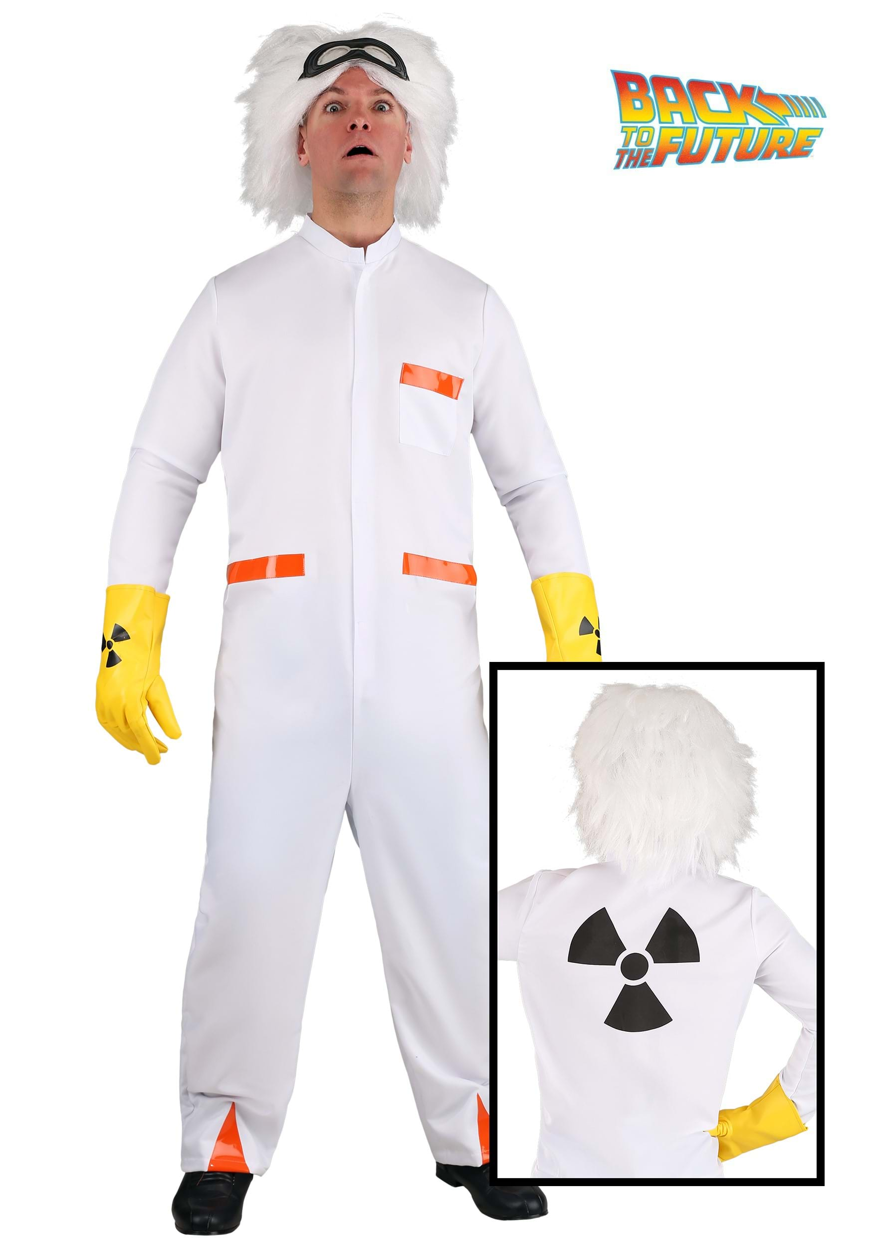 Plus Size Doc Brown BTTF 1 Costume