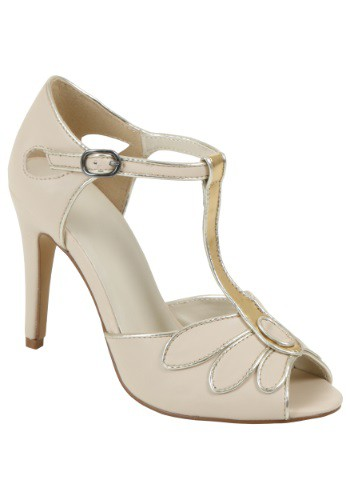 Click Here to buy Deluxe Nude Flapper Heels from HalloweenCostumes, CDN Funds