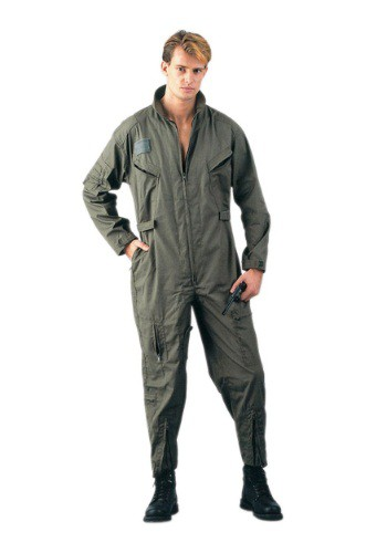 Adult Olive Green Military Flightsuit