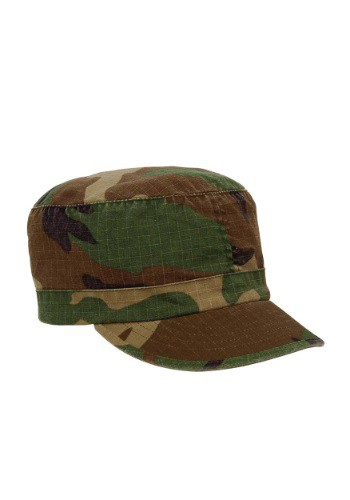 Women's Woodland Camouflage Fatigue Hat By: Rothco for the 2015 Costume season.