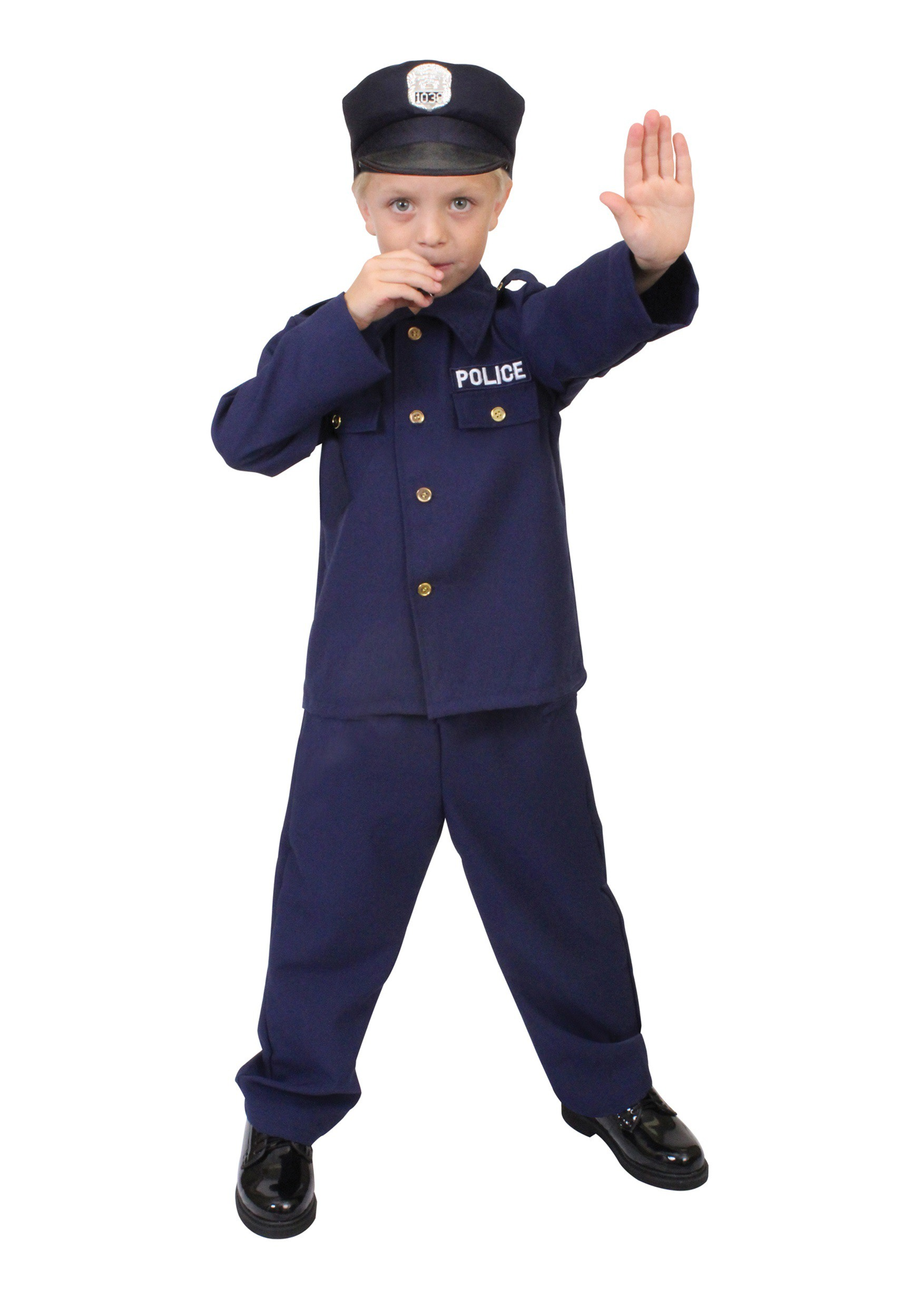 Child police officer costume - Police officer child costume ...
