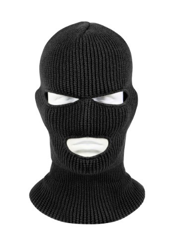 Adult Black 3-Hole Face Mask