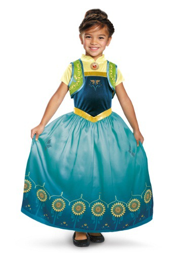 Girls Deluxe Frozen Fever Anna Costume