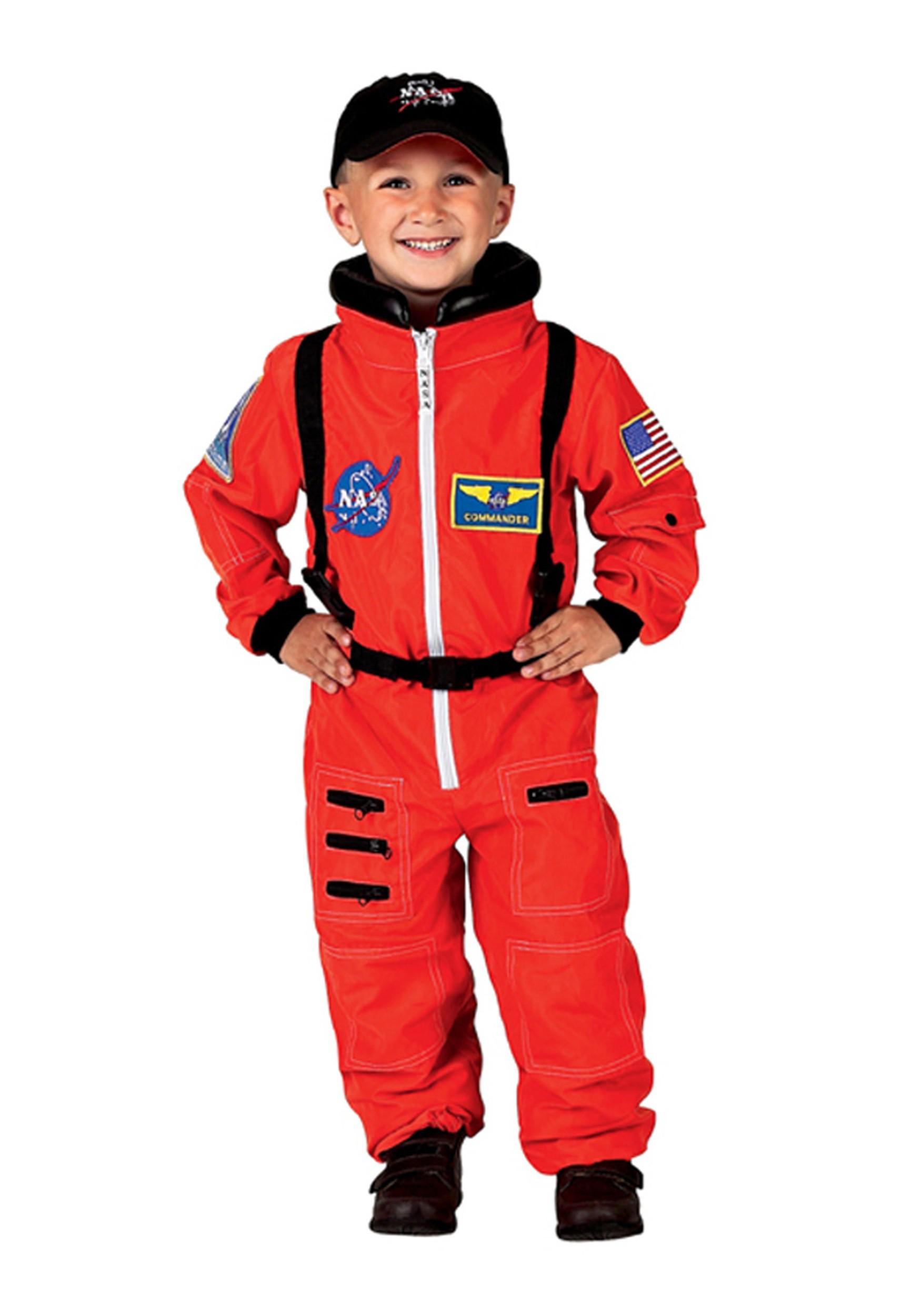 Child/'s Orange Astronaut NASA Boys Costume