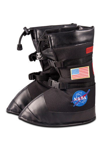 Kids Black Astronaut Boots By: Aeromax for the 2015 Costume season.