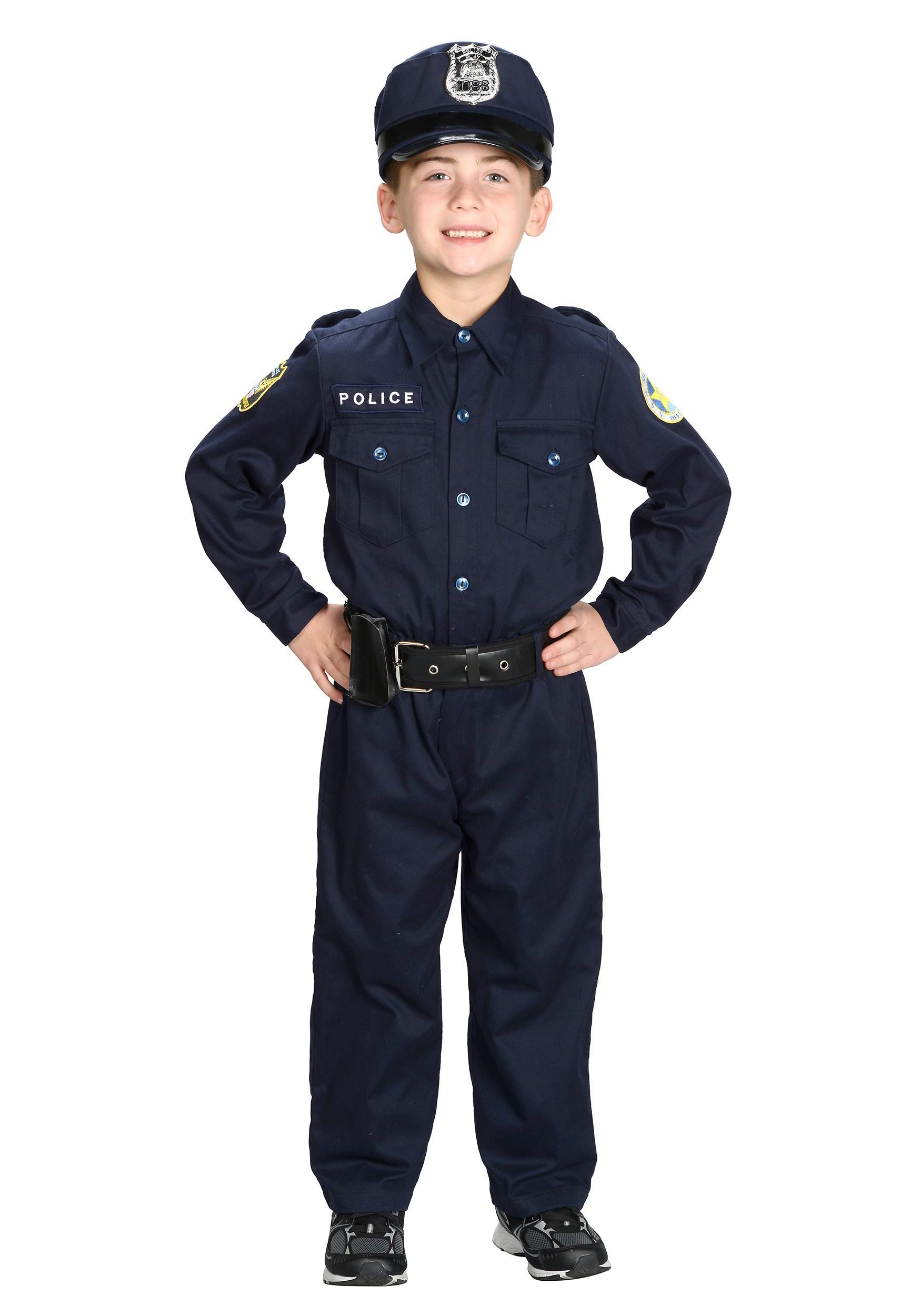 Police Costume Kid Transparent