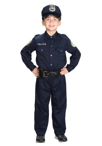 Image of Boys Deluxe Police Officer Costume