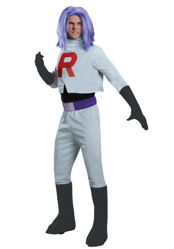 Click Here to buy Adult James Team Rocket Costume from HalloweenCostumes, USA Funds & Shipping