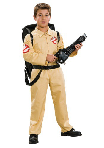 Click Here to buy Kids Deluxe Ghostbusters Costume from HalloweenCostumes, USA Funds & Shipping