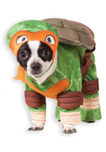 Click Here to buy TMNT Michelangelo Pet Costume from HalloweenCostumes, USA Funds & Shipping