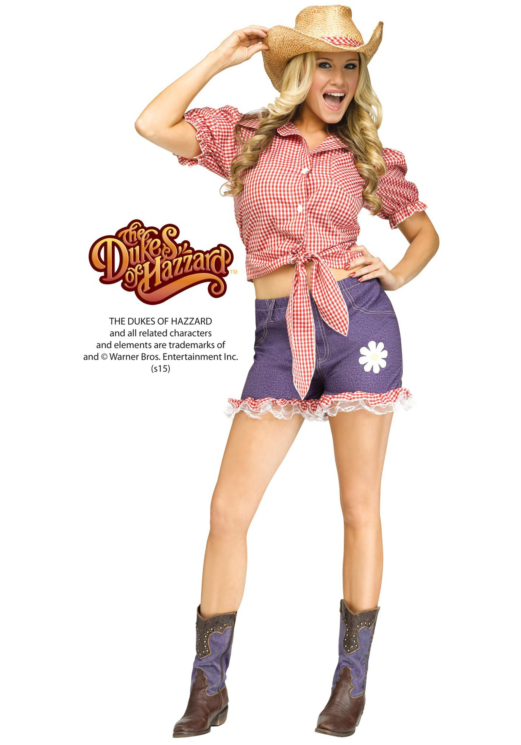 Daisy Duke Halloween Costume And Wig 113
