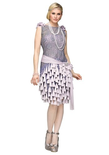 Womens Great Gatsby Daisy Bluebells Dress
